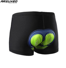 ARSUXEO Men Women Cycling Underwear MTB Mountain Bike Shorts 5D Gel Padded Compression Cycling Shorts arsuxeo bicycle cycling 3d padded cushion underpants shorts underwear mtb road bike men women compression shorts