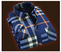 Thick and long sleeved Plaid Shirt Mens cashmere warm winter leisure  shirts