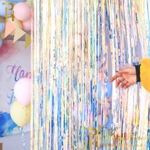 Великолепный фон занавеска s мишура бахрома фольга занавеска Единорог детский душ Свадьба День Рождения Вечеринка декорации фото реквизит
