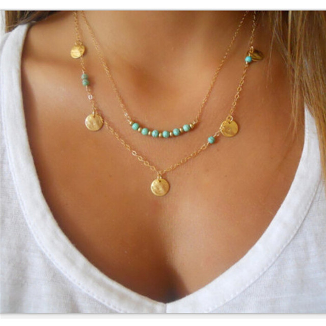 2017 Hot Sale Gold Silver Sequins Long Star Tassel Necklace Accessories Necklace
