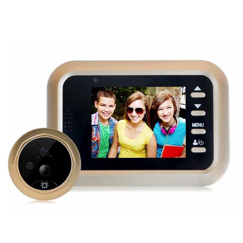 2 4 inch LCD HD Color Screen Doorbell Camera Viewer Door Peephole 200W pixels Camera Eye