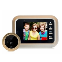 2.4 inch LCD HD Color Screen Doorbell Camera Viewer Door Peephole 200W pixels Camera Eye Video recorder Hidden Cat Eye Head