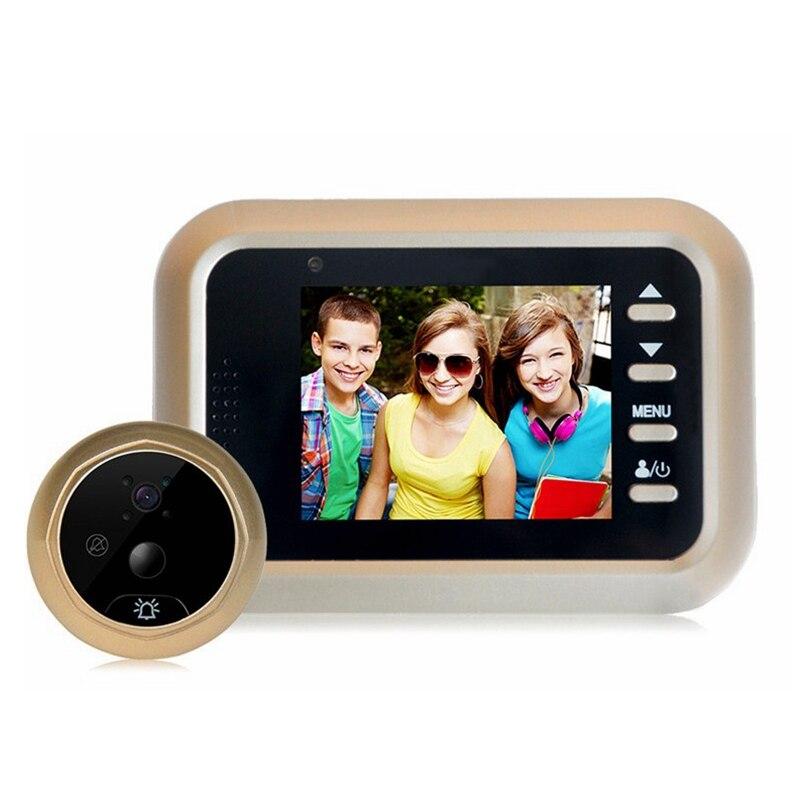 2.4 pouce LCD HD Écran Couleur Sonnette Camera Viewer Porte Judas 200 w pixels Oeil de la Caméra Vidéo enregistreur Caché Chat eye Tête