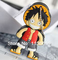 % Luffy de goma promoción de plástico usb flash drive de 32 GB 16G 8G 4G Flash Pen Drive Palillo Del Disco Duros Sticks Pendrives usb stick S343
