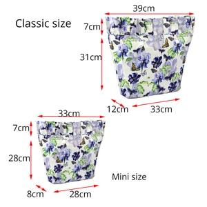 Image 2 - Neue Verbund Twill Tuch Klassische Mini Wasserdichte Krause Falten Innere Futter Einfügen Zipper Tasche für Obag O Tasche