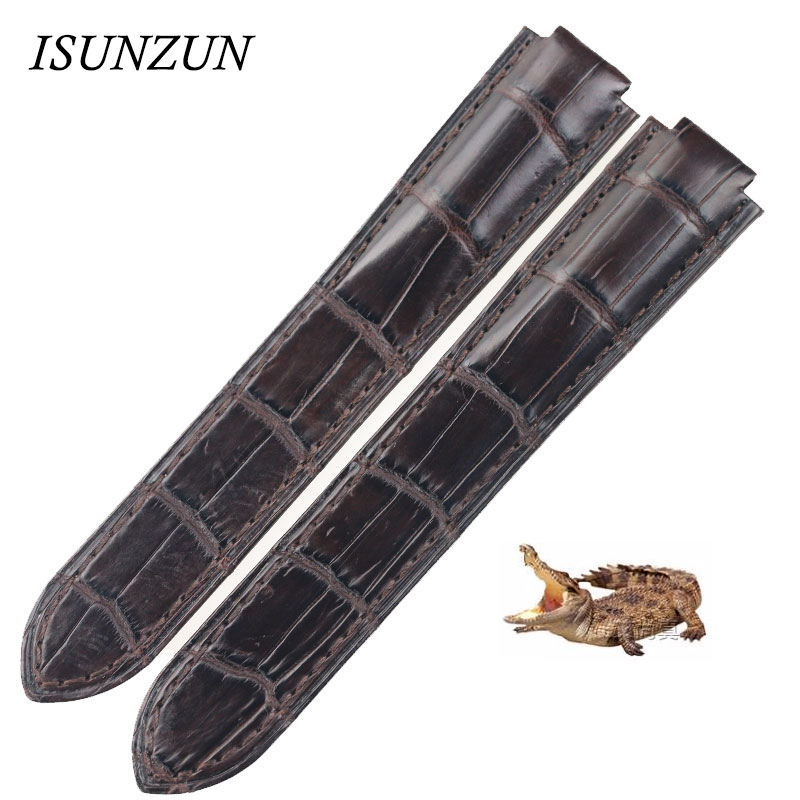 ISUNZUN Watchband For Cartier Ballon Bleu Style Watch Band Crocodile Genuine Leather Watch Strap For Women And Men Watchband isunzun watch band for longines l2 l4 watch strap crocodile skin watchband genuine leather brand durable exquisite bracelet