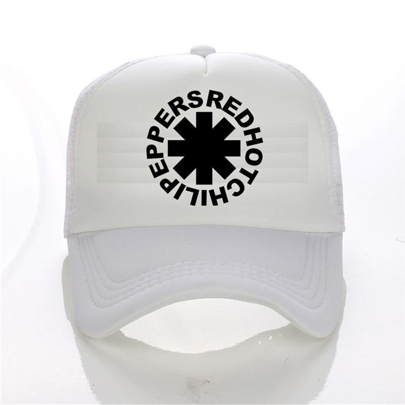 Latest model Red Hot Chili Peppers band pattern printing net cap baseball  cap Men women Summer Trend Cap sun hat Beach Visor-in Sun Hats from Men s  Clothing ... 6dbd3f541f0f