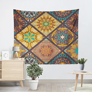 Stairs Hole Art Tapestry Wall Hanging Bohemia Bedspread Throw Home Room Decor