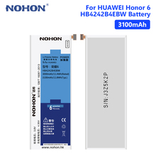 NOHON Honor 6 Battery 3100mAh Lithium Rechargeable Phone For Huawei H60-L01 H60-L02 H60-L11 H60-L04 HB4242B4EBW Batteries