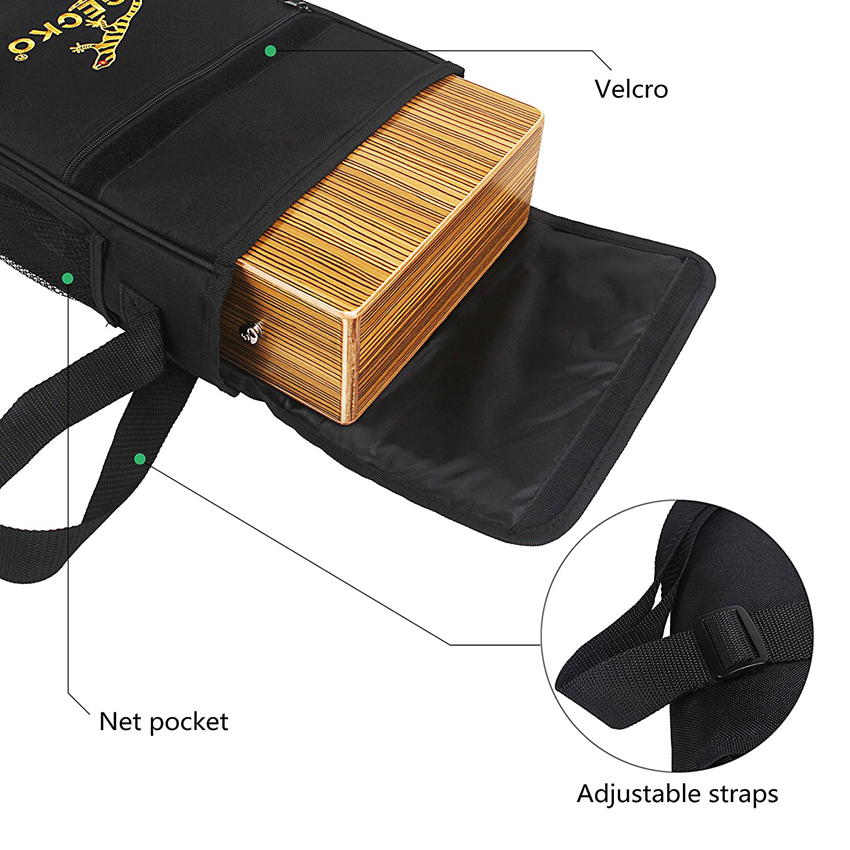 JDR Travel Cajon Birch Wood Cajon Box Drum String Structure Inside For Drummers Travelling Musicians With Braces Bag Portable