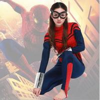 free shipping Sexy blue with red Women's spider Costume sale ,Game cosplay Sexy Halloween Costumes for woman superwoman S XL