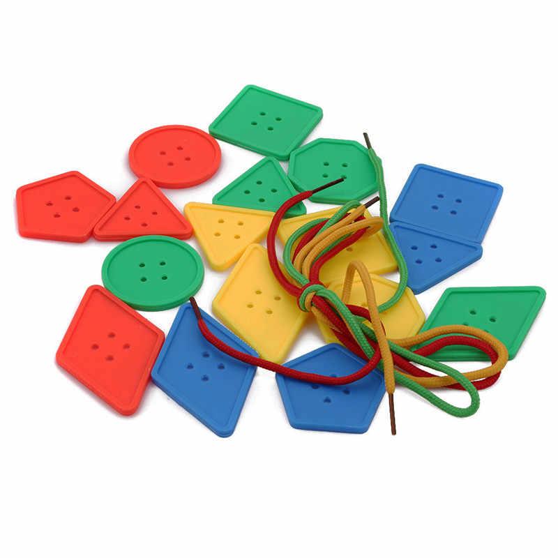 ألعاب ساخنة للأطفال أزرار خيوط الألغاز التعليمية تانجرام المنطق لعبة ما قبل المدرسة التنسيق بين اليد والعين