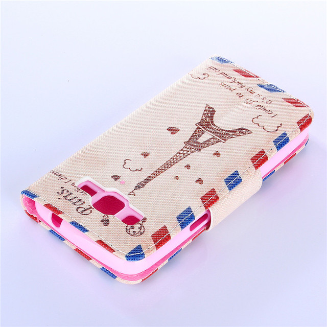 Fashion Sytle Leather Filp Phone bags For Samsung Galaxy Core Lte 4G G386 G386F SM-G386T Case
