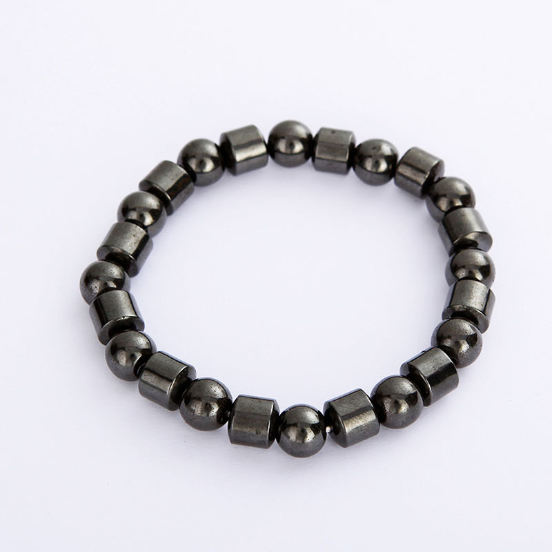 Men Women Magnetic Bracelet Black Hematite Stone Therapy Health Magnet Natural Beads Ban ...
