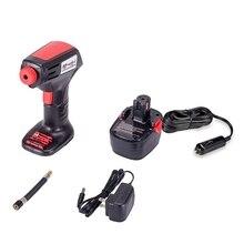 Портативный воздушный компрессор, Аккумуляторный насос для шин, беспроводной автомобильный насос для Велосипедный мяч, цифровой манометр с ЖК-дисплеем, автоматическое отключение O