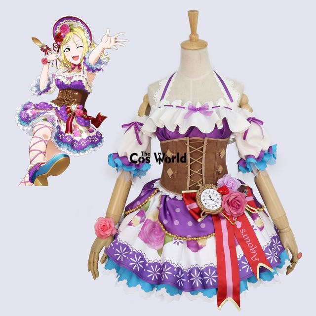 aqours chocolate valentines day ohara mari maid dress uniform outfit anime