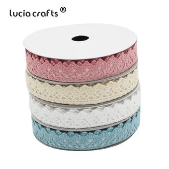 Lucia artesanía 2ylot 15mm cinta adhesiva de cinta de tela de encaje pegatina para álbum de recortes DIY manualidades I1007