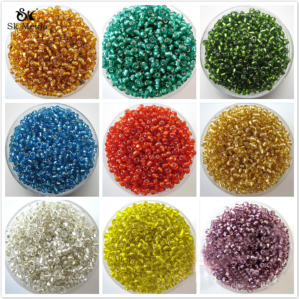 1200Pcs gold silver Czech Glass Seed Spacer Beads For Jewelry Making 2mm