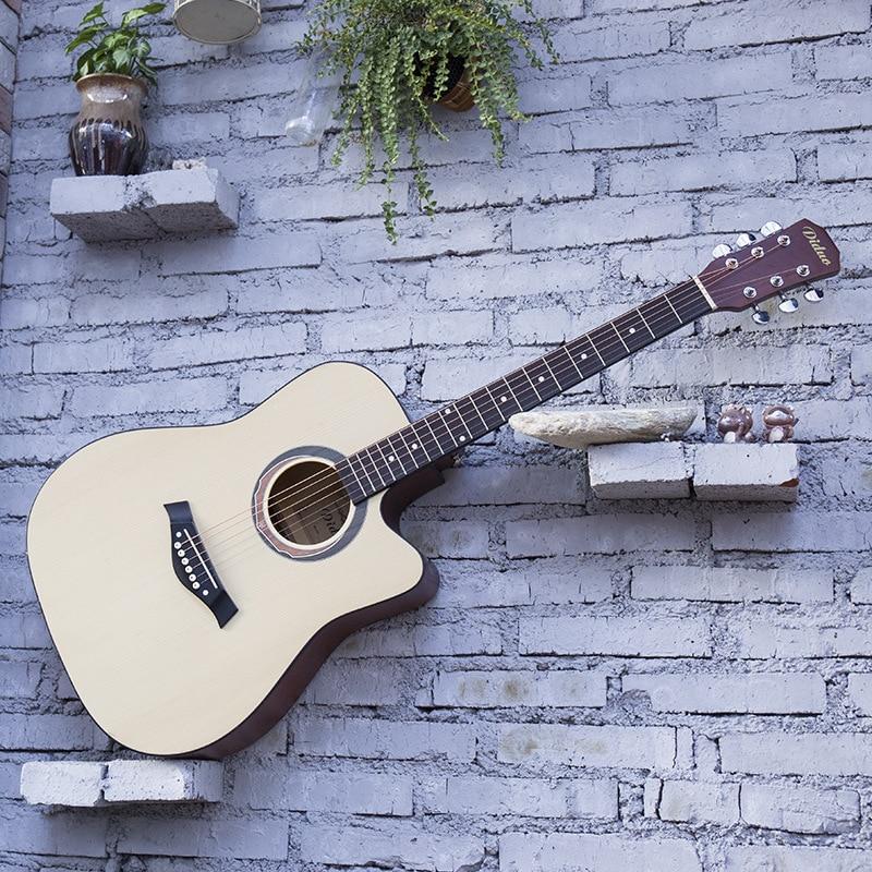 Guitar Acoustic Steel-String Balladry Folk Pop Flattop 41 Inch 6 String Basswood Guitarra Picea Asperata Matte Cutaway Beginner 30 34 36 inch novice guitar beginner folk guitar six chord little guitar