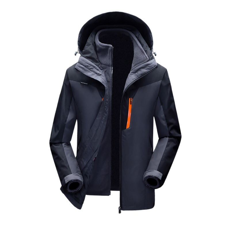 купить 2017 Winter 3 in 1 Outdoor Soft Shell Jacket Men Women Windproof Climbing Hiking Skiing Jacket Waterproof Coats Outdoor Hooded онлайн