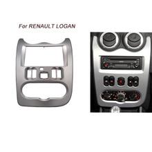 CT-CARID For RENAULT Logan Stereo Dash Kit Double 2 Din Facia Installation Fascia Face Panel Frame car radio fascia stereo installation frame double din in dash facia kit for hyundai elantra avante hd left wheel zwa11 065