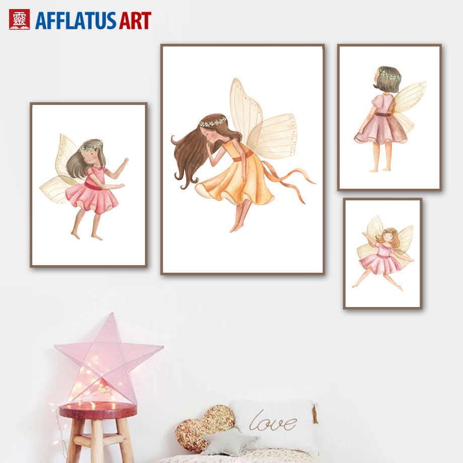 Акварельные цветочные плакаты на скандинавскую тему и репродукции, настенное искусство, Картина на холсте, настенные картины для детской комнаты, декор для детской комнаты