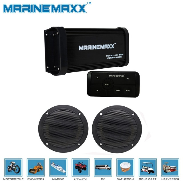 Marine Bluetooth Amplifier Motorcycle Audio MP3 Player Sound System Boat  UTV RV Car MP3 Marine Stereo