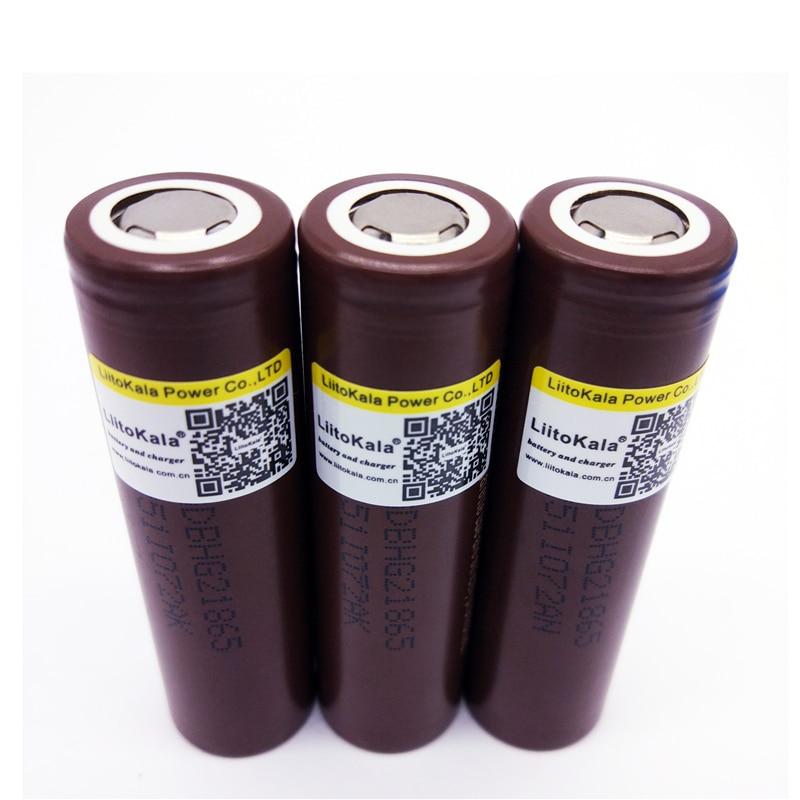 9 pçslote LiitoKala lii 30A HG2 18650 baterias Recarregáveis 3000mah de energia de descarga de alta