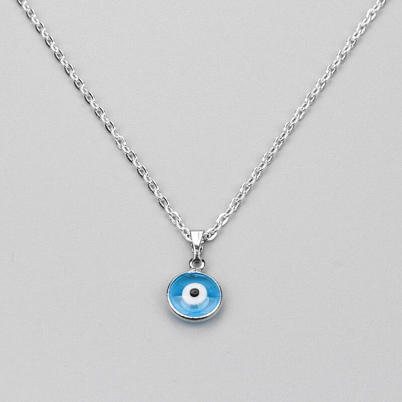 Повезло глаз Турецкий Дурной глаз ожерелье стекло очарование кулон синий модные украшения протектор для мужчин женщин ручной работы