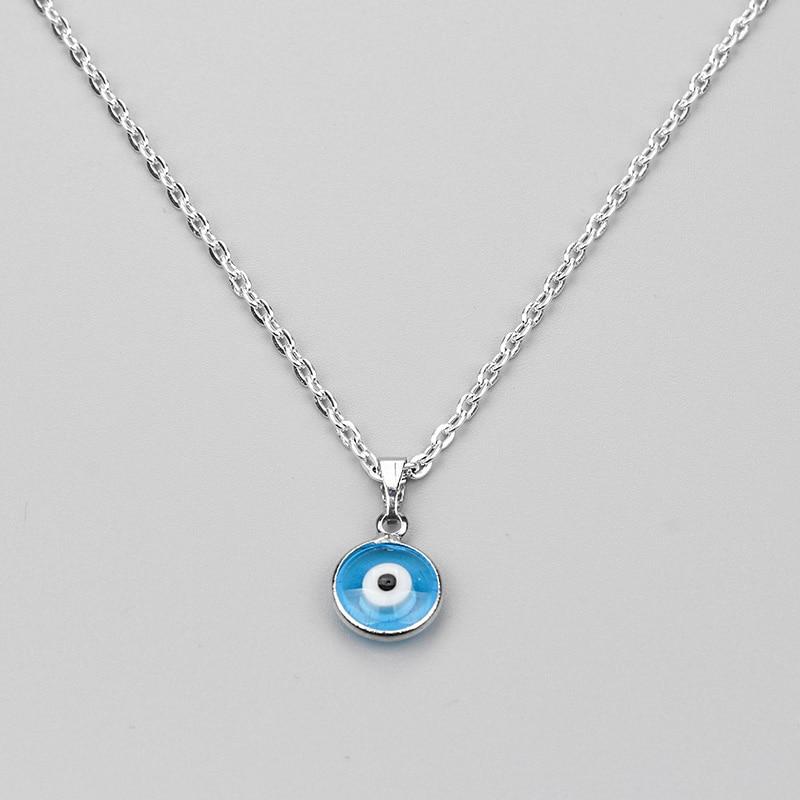 2017 нови турски злото око огърлица стъклена чар висящ син мода бижута протектор мъже жени ръчно изработени