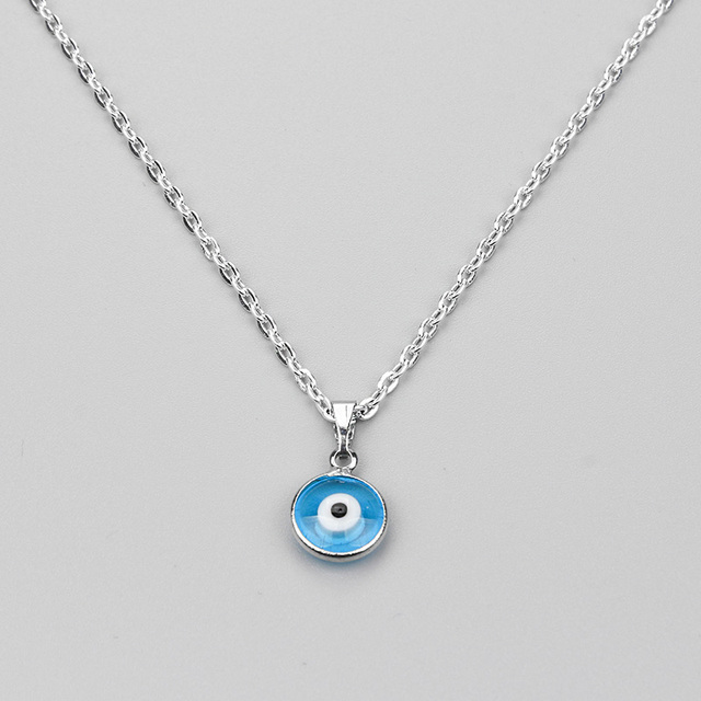 2017 new Turkish Evil Eye Necklace Glass Charm Pendent Blue Fashion Jewelry Protector Men Women Hand made