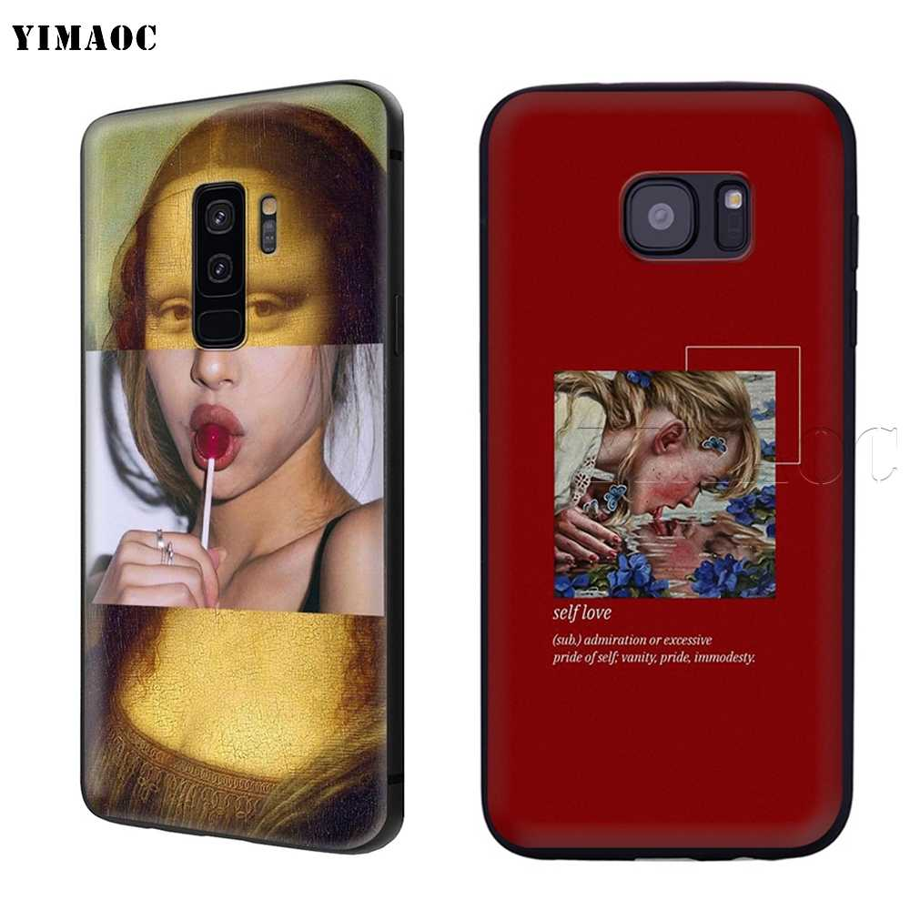 YIMAOC Kunst Ästhetischen Van Gogh Mona Lisa David Fall für Samsung Galaxy A7 A8 A9 A10 A20 A30 A40 A50 a70 M10 M20 M30 S10 S10e J6