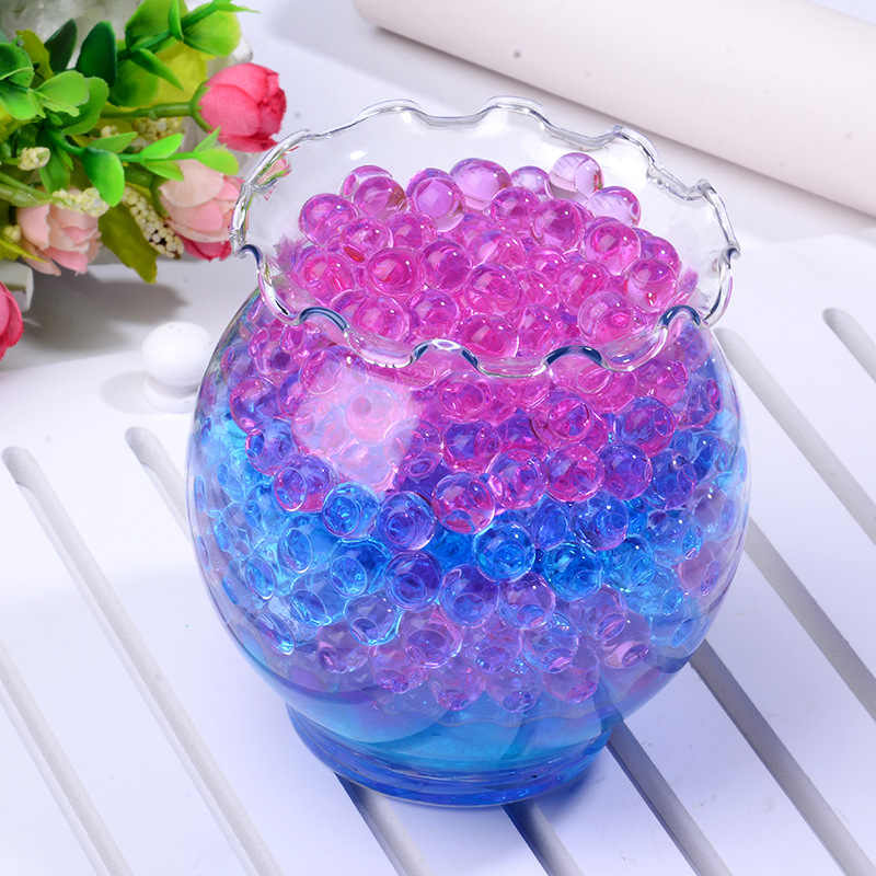 100pcs potted Crystal Soil Pearl Gel Ball Polymer Hydrogel Crystal Mud Bead Growth Magic Jelly Wedding