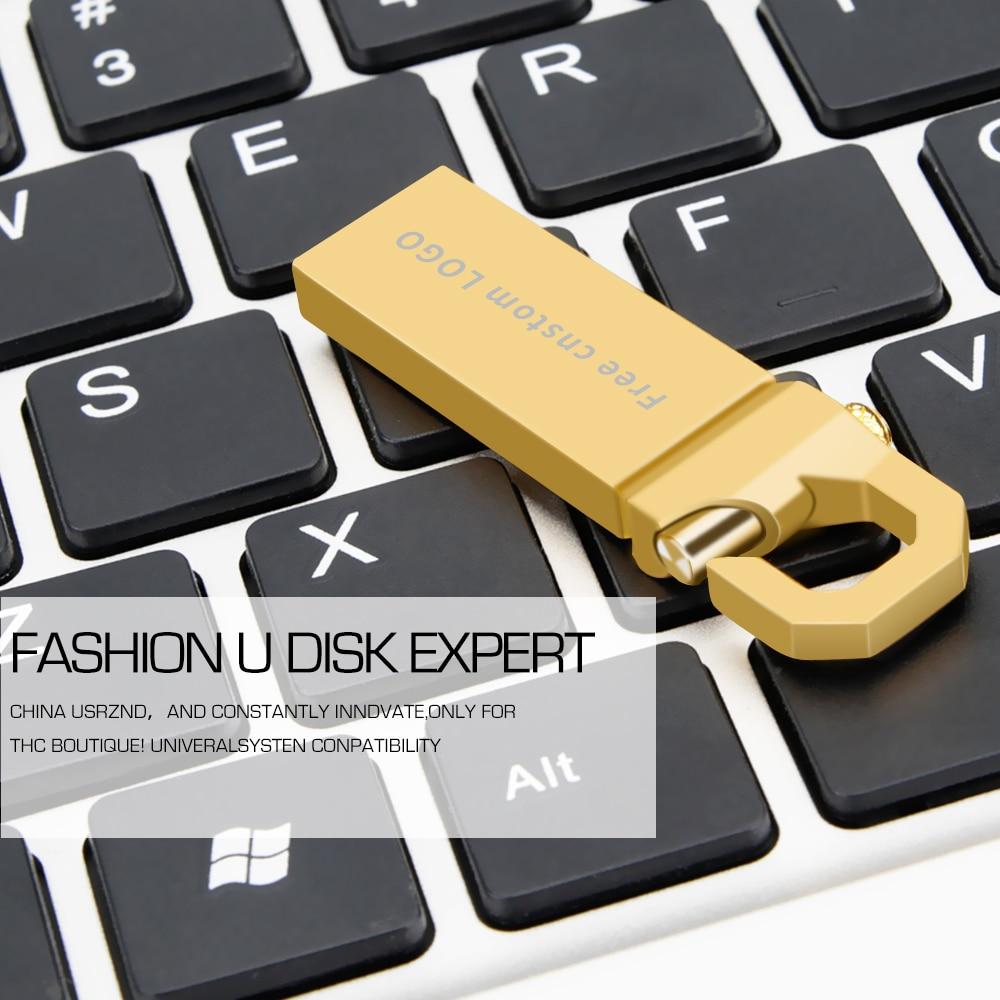 Popular Usb Flash Drive 32GB High Speed USB 3.0 Metal Pen Drive 4GB 8GB 16GB 64GB Pendrive Wholesale Flash Memory Free Shipping  (4)