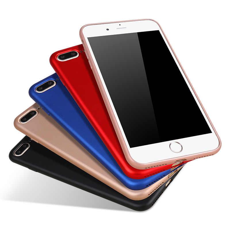 ซิลิโคนบาง Tpu สำหรับ iPhone XR XS Max XS X 6 6S 7 8 Plus ป้องกัน Cover Matte hand