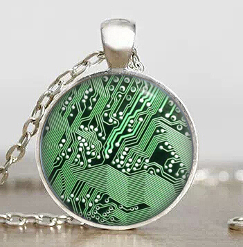 Drama Doctor Dr Who Cyberpunk Steampunk Computer Circuit Board Pendant vintage Necklace charm chain 1pcs/lot womens mens fashion