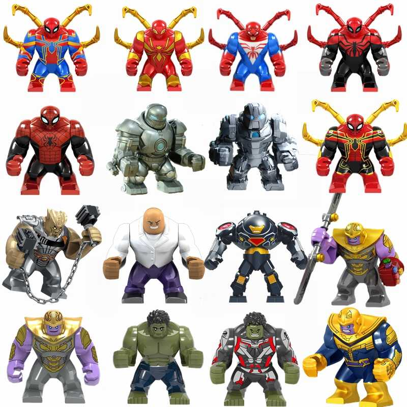 Legoing Marvel Spiderman Avengers Spider-Man 2 Far From Home Doctor Octopus Deadpool Figures Super Heroes Iron Man Toys Legoings
