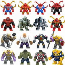 Legoing Marvel Spiderman Avengers Spider-Man 2 Ver Van Home Doctor Octopus Deadpool Cijfers Super Heroes Iron Man Speelgoed legoings(China)