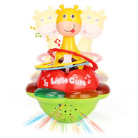 Baby Rattles Tumbler Doll Baby Toys Sweet Bell Music Roly Poly Early Education Projection Giraffe Tumbler
