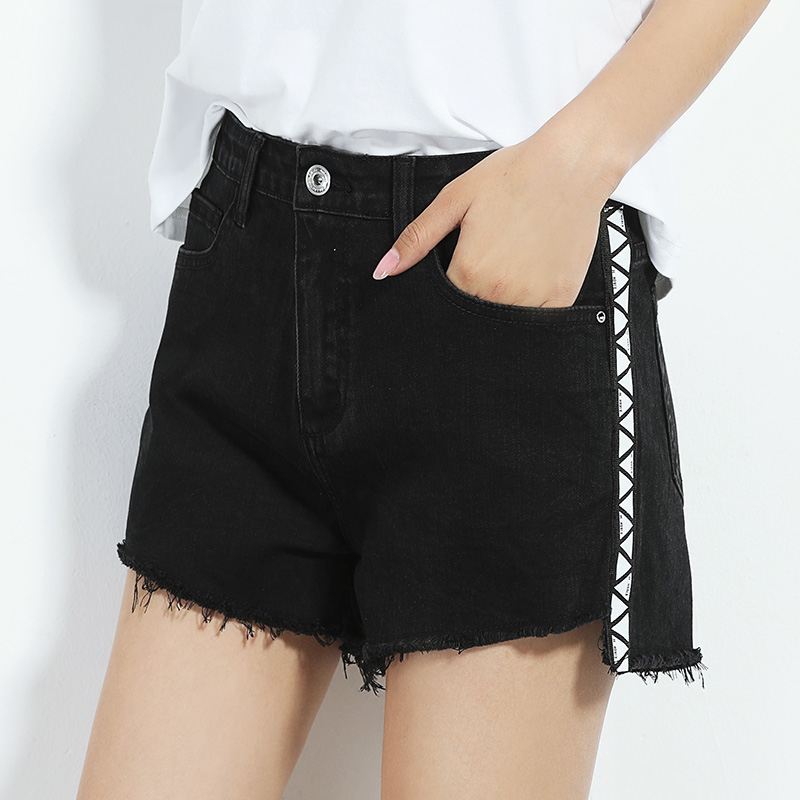 5910 Plus size loose denim shorts female summer women panelled jeans casual shorts hots sexy jeans with mid waist low elastic