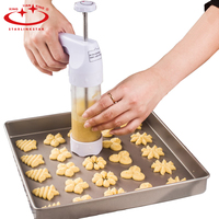 Baking Pastry Tools Cookie Mold Press Gun 12 Flower Mold 6 Nozzle Pastry Cookie Cutter Cake