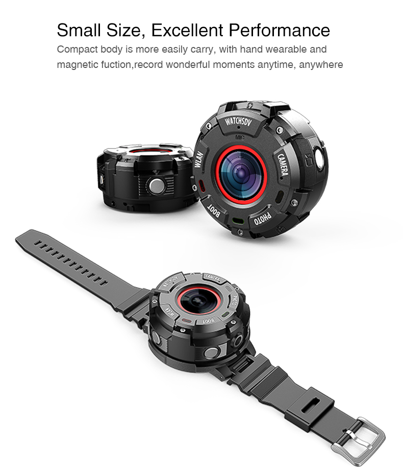 US $79 2 20% OFF|30M Waterproof Swim Diving Sports DV Watch Band WiFi App  Action Camera 1080P Bracelet Camcorder Video Recorder Bicycle Car DVR-in