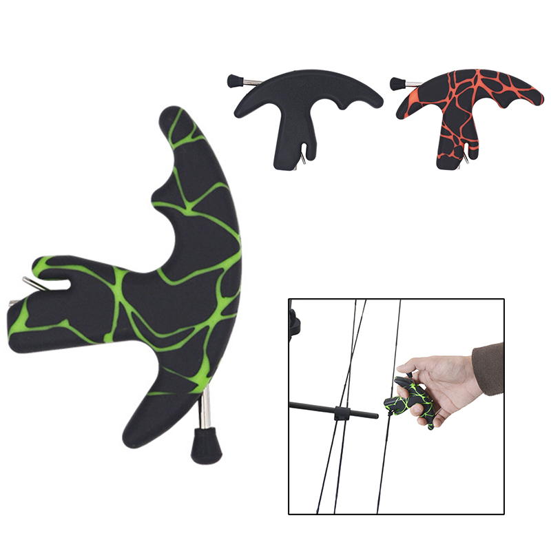 Ourpgone New High Quality Strong Plastic 3 Fingers Bow Arrow Grip Archery Release Aids 3 Colors Outdoor Sports Portable Tools