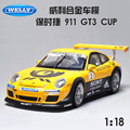 1:18 free shipping Supercar 911 GT3 CUP Diecast Car Model Toy Car model Electronic Car with Kids Toys Gift  High Quality