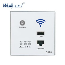 300 M 110 ~ 250 V Nuevo Blanco USB Socket WIFI Inalámbrico USB Toma de Carga, Pared Incrustado AP Inalámbrico Router, 3G WiFi Repetidor