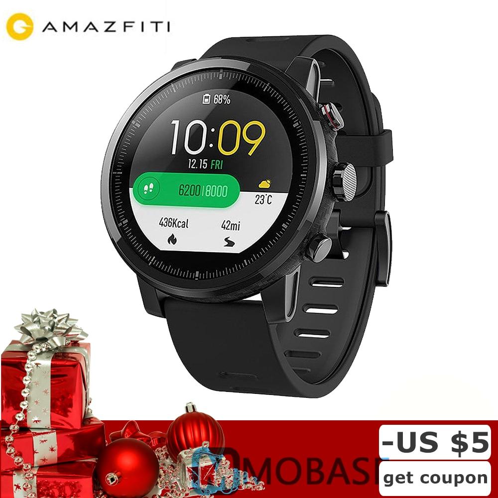 Navire espagnol Huami Amazfit 2 Amazfit Stratos Rythme 2 GPS Montre Smart Watch Hommes Montres PPG Moniteur de Fréquence Cardiaque 5ATM Étanche