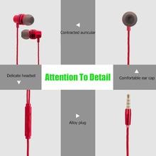 Fone de Ouvido Estéreo de fone de ouvido de telefone Cabeça 3.5mm Build-in Mic Esporte Fone de ouvido de Metal MP3 PC Gaming Auriculares para IOS android Telefone xiaomi