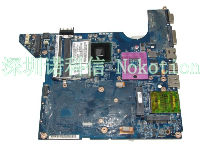NOKOTION 572952-001 LA-4101P Main Board For HP DV4 DV4T-1400 Laptop Motherboard GM45 DDR2 with Free CPU nokotion laptop motherboard for hp dv6000 dv6500 dv6600 s1 449902 001 main board da0at1mb8f1 ddr2 geforce 8400m with free cpu