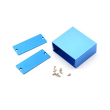 1pc 50*58*24MM Electronic Project Enclosure Case  Blue Aluminum PCB Instrument Box