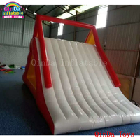 2017 popular red color water slides for children,giant inflatable water slide for pool